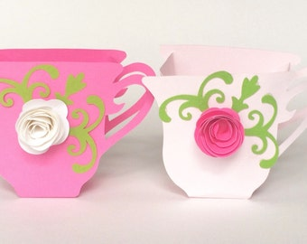 Tea Cup Party Favors Set of 12