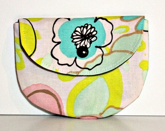 Vivienne Bloom Pacifier Pouch, Pacifier Pouch, Pacifier Holder, Coin Purse, Small Wallet, Card Holder, Small Wallet, Binky Pouch