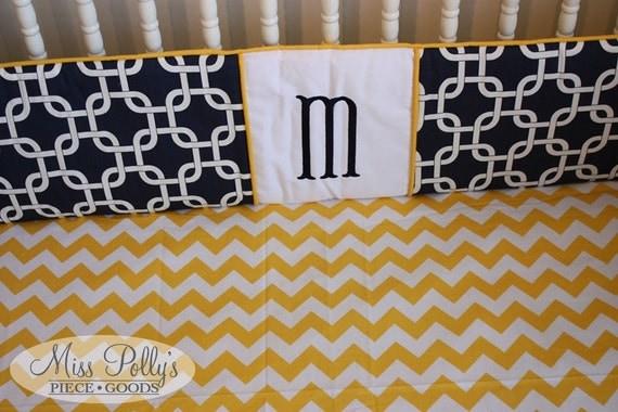 Custom Baby Crib Bedding-  Design Your Own-  Add a Monogram
