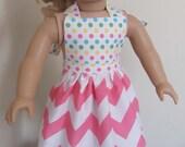 Pink Chevron Doll Apron