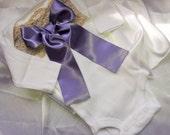 Newborn Girls Purple Plum Lace Baby Girl coming home outfit Newborn