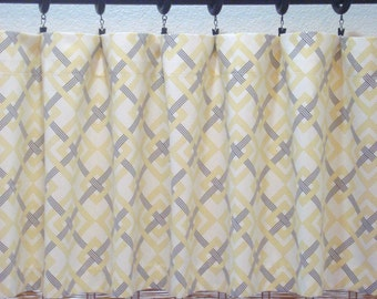 Waverly Square Root Designer Modern Kitchen Curtain Valance 52x12 52x14  52X16  52X18