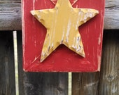 Repurposed frame turned into a Hanging star or shelf sitter