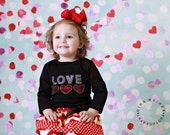 Two Piece Girls Valentines Day Outfit Baby Valentine Love Top and Skirt Baby Toddlers Sizes 6 12 18 24 Months Girls 2 3 4 5 6