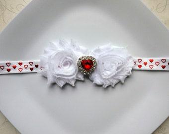 Valentine's Headband- newborns, babies, toddlers, girls, photo prop, Valentine's day