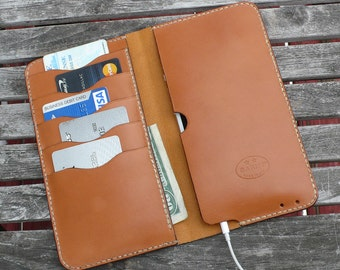 iPhone 7 plus wallet, iphone 6 plus wallet, iphone leather wallet, iphone case, iphone leather cover, garny