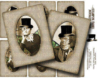 Steampunk Fairies - Printable Journaling Cards