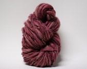 Thick and Thin Merino Yarn Handspun Wool Slub  Hand Dyed tts(tm) Merino Bulky Almandine 02