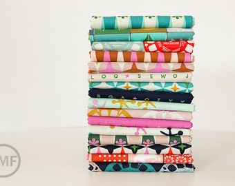 Fat Quarter Bundle Playful, Full Collection, 16 Pieces, Melody Miller, Cotton+Steel, RJR Fabrics, 100% Cotton Fabric