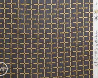 Charms Bamboo in Metallic Gold, Ellen Baker for Kokka Fabrics, Double Gauze Cotton Fabric, JG-42100-102C
