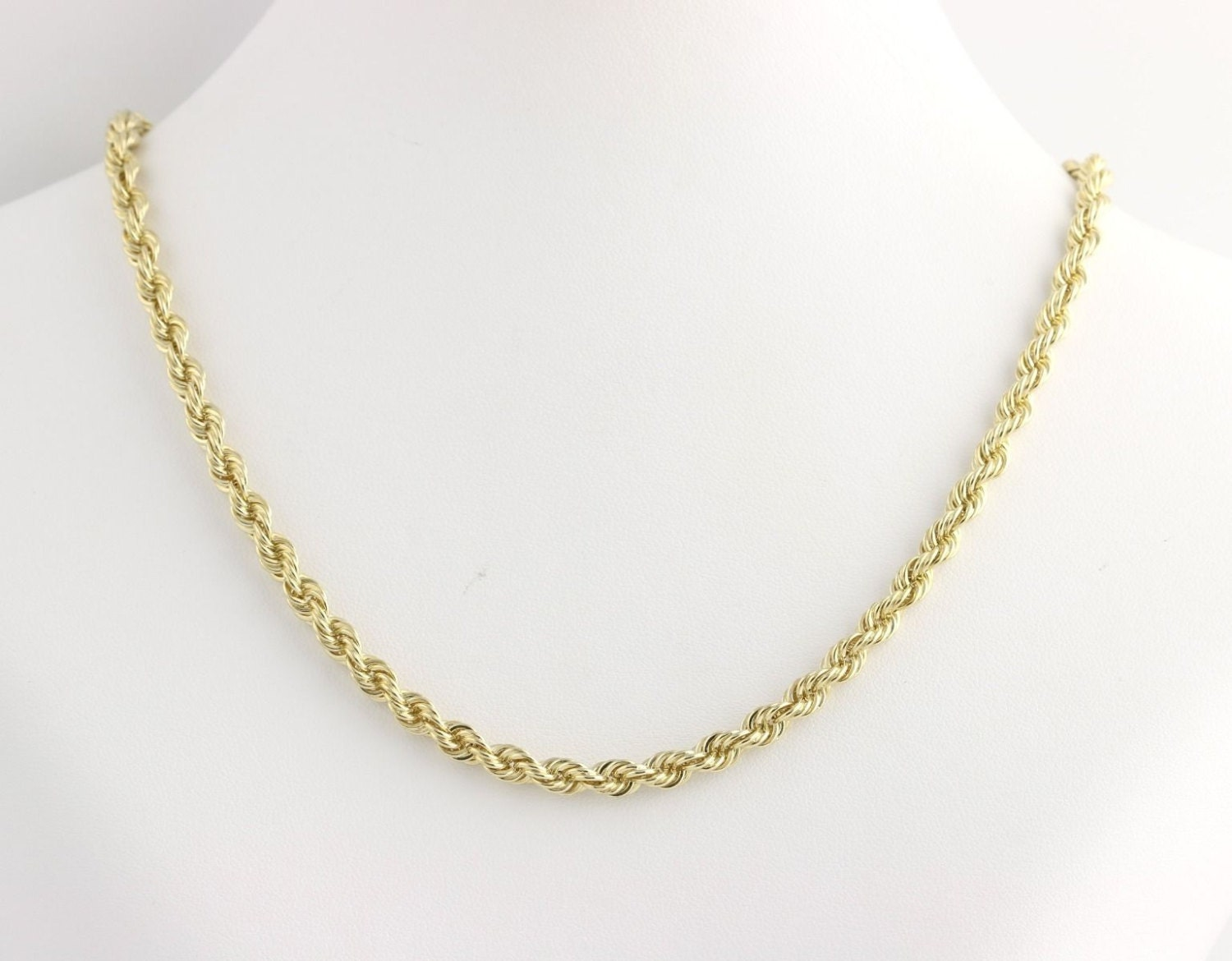 rope chain necklace 20 25 14k yellow gold s by
