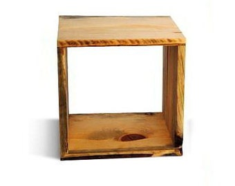 Wood Storage Cube one 12 by 12 by 10 inch Cubbie reclaimed wood sustainably made furniture from Naturally Aspen