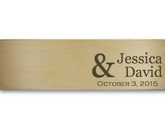 Personalized Wedding Wine Box Love Letter Ceremony, with large ampersand