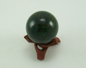 Bloodstone 40mm Sphere with Free Rosewood Sphere Stand