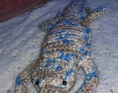 Crocheted Bearded Dragon Plushie in Mirage