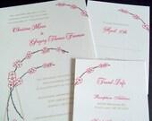 PRINTABLE Art Nouveau Cherry Blossom Wedding Invitation Full Set - Digital DIY Wedding Files - I set text, YOU print