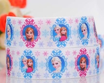 50 yards Frozen Ribbon 7/8 Inch Grosgrain Ribbon by the Yard for Hairbows, Scrapbooking, and More, Hundreds of frozen ribbons to choose