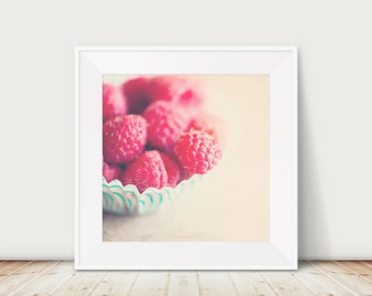 raspberry photograph food photography kitchen wall art raspberry print raspberry art fuchsia pink decor nursery wall art
