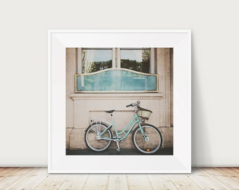 paris photograph paris art paris print mint green bicycle photo bicycle photograph mint bike photograph french decor travel photograph