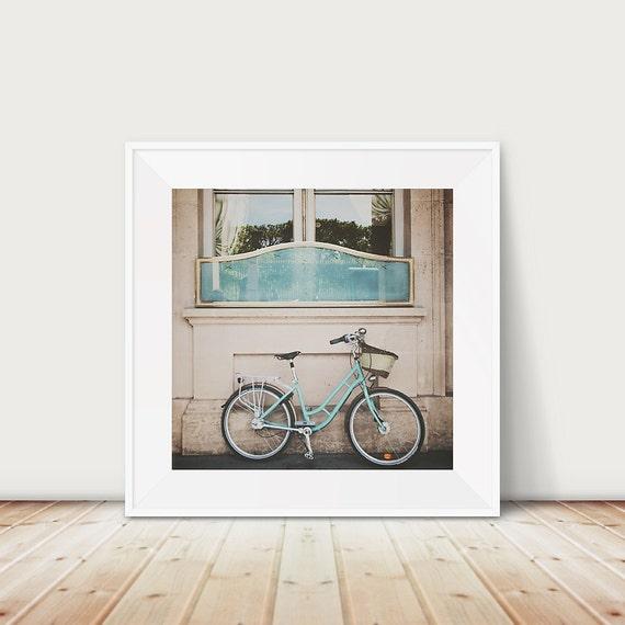 paris photograph paris art paris print mint green bicycle photo bicycle photograph mint bike photograph french decor travel photograph