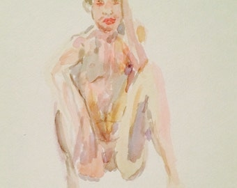 Male Figure in Watercolor
