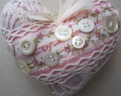 Set of Two Shabby Hearts