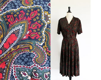 Vintage Pendleton, Womens Skirt and Shirt, 80s Separates, Made in the U.S.A., Paisley Print