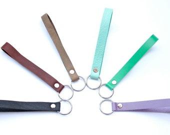 Leather Keychain Bracelet