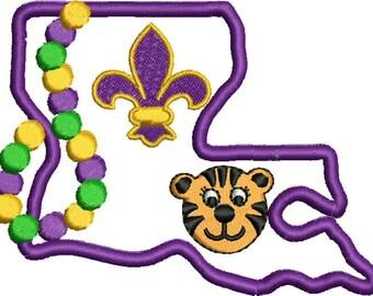 Louisiana Purple & Gold Applique