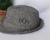 Personalized Gift For Men, Monogrammed Fedora Hat, Birthday  Gift