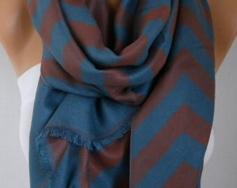 Zigzag Scarf, Fall Winter Accessories, Shawl, Cowl Scarf, Shawl Scarf, Gift Ideas For Her, Women's Fashion Accessories Women Scarves