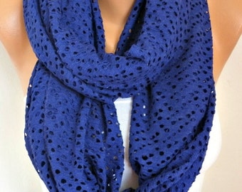 Tricot Filet Infinity Scarf Spring Summer Scarf Cowl Circle Loop Oversized Gift Ideas For Her Women Fashion Accessories Bridesmaid Gift