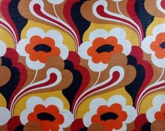Vintage Flower Power Curtain Seventies