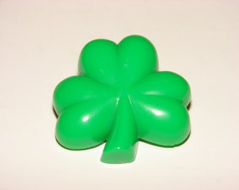 Vintage Hallmark Shamrock Pin, St. Patricks Day, Collectible Hallmark Lapel Pin, Green Clover