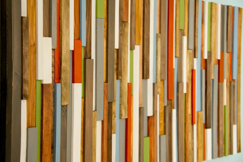 Rustic Wall Art Reclaimed Wood Art 20 X 40 Earth