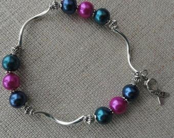 078 Thyroid Cancer Awareness Bracelet