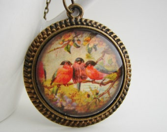 Out On A Limb Antiqued Pendant with Free Matching Necklace