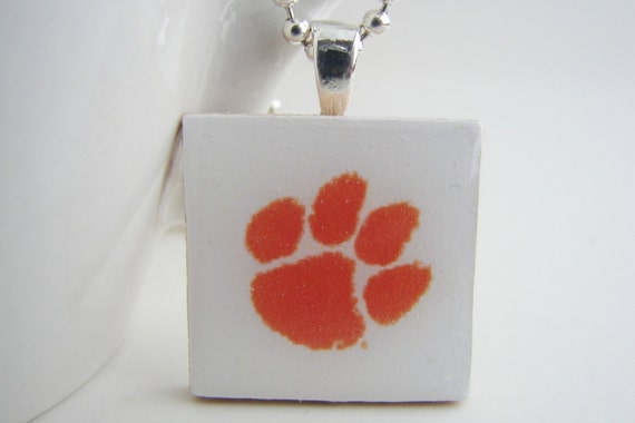 Tiger Paw Resin Pendant with Free Necklace
