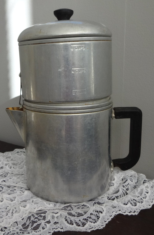 Old Drip Coffee Maker : Vintage Drip Coffee Maker Aluminum Drip O Lator