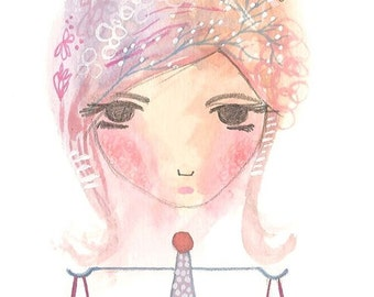 Libra print astrology art zodiac artwork pink lilac