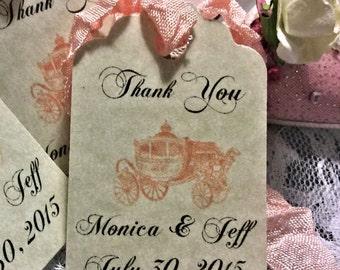 Wedding Favor Tag / Princess wedding/ Fairytale wedding Gift tags