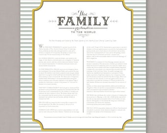 "PRINTABLE 8x10 ""The Family, A Proclamation to the World"" poster -- PDF digital file"