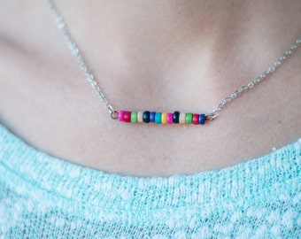 Color Block Bar Necklace