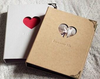 Love heart Cut out / 9 inch Scrapbook Album /Scrapbook Album / Folder Album / Wedding Album / Photo Album/PA004