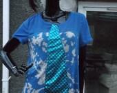 bleach effect blue mermaid top size 14 16