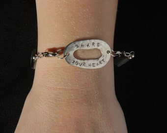 """Abalone """"Share Your Heart"""" Bracelet, 7 3/4 inches"""