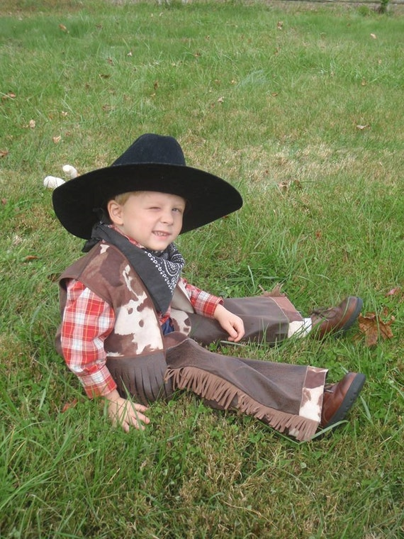 Sewing Pattern Cowboy Vest, sizes 12 mo to 5, beginner sewing pattern, western wear, quick sew pattern