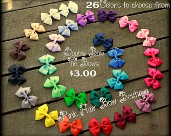 Hair Bow , Solid Bow Tie Hair bows, Hair bow for babies, toddlers, girls, cute hair bow, Small hair bow, choose your color