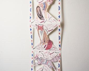 Paper Fox Hanging Decoration