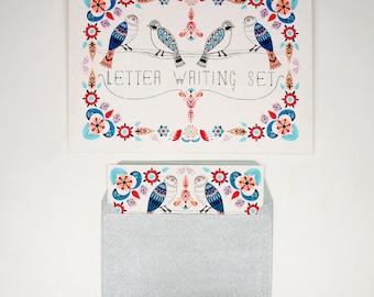 Letter Writing Set - Garden Birds